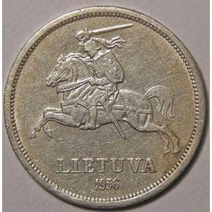 Photo numismatique Monnaies Etrangères Lithuanie 5 Litai