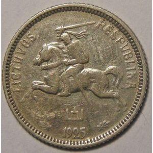Photo numismatique Monnaies Etrangères Lithuanie 1 Litas