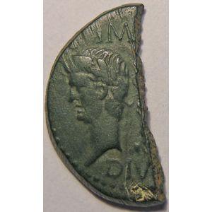 Photo numismatique Monnaies Empire Romain AUGUSTE (27 Av JC- 14 Ap JC) 1/2 Dupondius