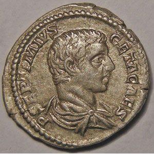 Photo numismatique Monnaies Empire Romain GETA (198-212) Denier