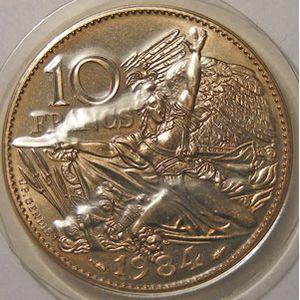 Photo numismatique Monnaies Françaises 10 Francs Gadoury 818. Rude