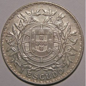 Photo numismatique Monnaies Etrangères Portugal 1 Escudo