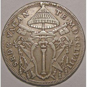 Photo numismatique Monnaies Etrangères Vatican 1/2 Scudo