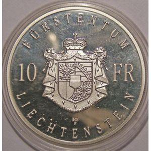 Photo numismatique Monnaies Etrangères Liechtenstein 10 Franken