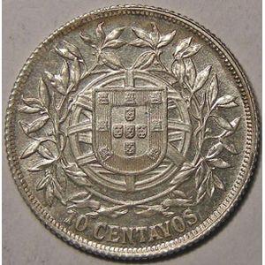 Photo numismatique Monnaies Etrang�res Portugal 10 Centavos