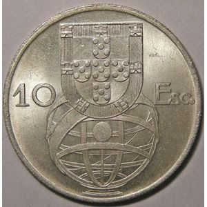 Photo numismatique Monnaies Etrangères Portugal 10 Escudos
