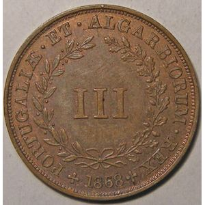 Photo numismatique Monnaies Etrang�res Portugal 3 Reis