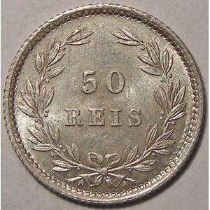 Photo numismatique Monnaies Etrangères Portugal 50 Reis