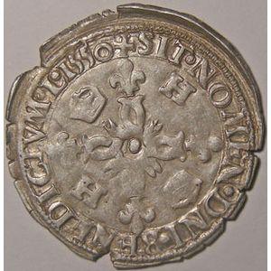 Photo numismatique Monnaies Royales Françaises HENRI II (1547-1559) Douzain aux croissants