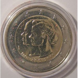 Photo numismatique Monnaies Euros Monaco 2 Euro