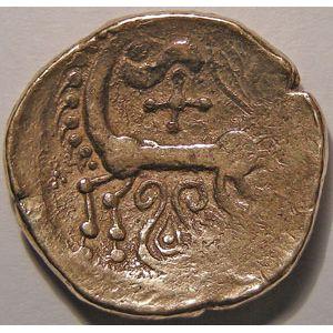 Photo numismatique Monnaies Gauloises Leuques Statère au cheval retournant la tête