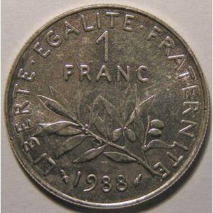 Photo numismatique Monnaies Françaises Monnaies fautées 1 Franc