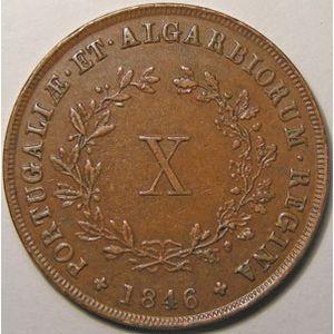 Photo numismatique Monnaies Etrangères Portugal 10 Reis