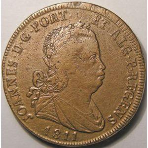 Photo numismatique Monnaies Etrangères Portugal 40 Reis