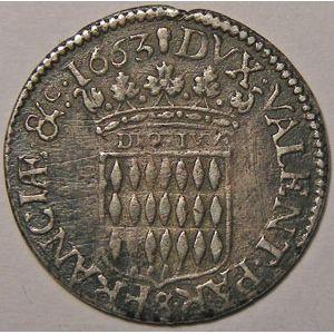 Photo numismatique Monnaies Etrang�res Monaco Louis I (1662-1701)