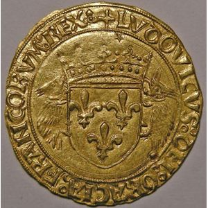 Photo numismatique Monnaies Royales Françaises LOUIS XII (1498-1514) Ecu d'or au porc-épic