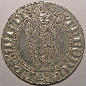 Photo numismatique Monnaies Lorraine Evêché de Metz Thierry V de Boppard (1365-1384)