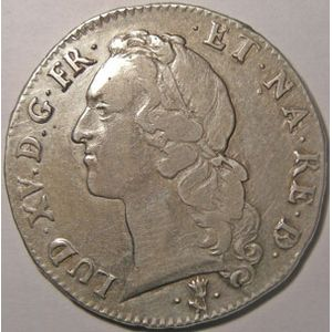 Photo numismatique Monnaies Royales Fran�aises LOUIS XV (1715-1774) Ecu de B�arn au Bandeau