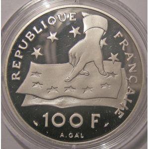Photo numismatique Monnaies Françaises Monnaies commémoratives Gadoury C24. René Descartes 1596-1650