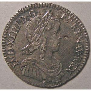 Photo numismatique Monnaies Royales Françaises LOUIS XIV (1643-1715) 1/12émé d'écu à la mèche longue