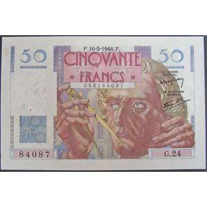 Photo numismatique Billets Billets France 50 Francs Le Verrier
