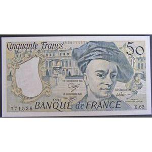Photo numismatique Billets Billets France 50 Francs Quentin De La Tour