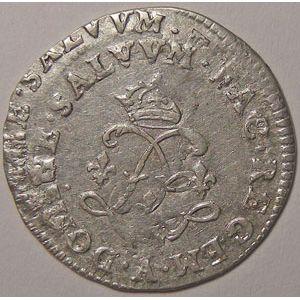 Photo numismatique Monnaies Royales Françaises LOUIS XIV (1643-1715) 4 Sols aux 2 L