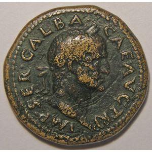 Photo numismatique Monnaies Empire Romain GALBA (68-69) Dupondius