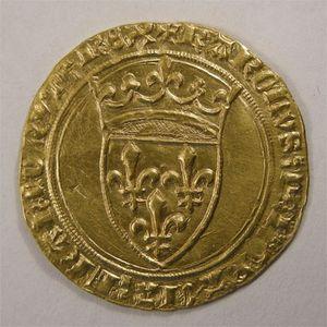 Photo numismatique Monnaies Royales Françaises CHARLES VI (1380-1422) Ecu d'or à la couronne