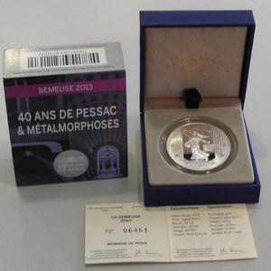 40 ans de Pessac,KM#2111, 10 Euro 2013 BE, Semeuse 2013
