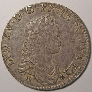 Photo numismatique Monnaies Royales Fran�aises LOUIS XV (1715-1774) 1/2 �cu Vertugadin