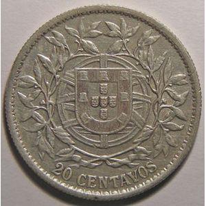 Photo numismatique Monnaies Etrang�res Portugal 20 Centavos