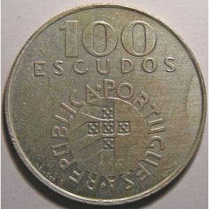 Photo numismatique Monnaies Etrangères Portugal 100 Escudos
