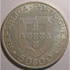 Photo numismatique Monnaies Etrangères Portugal 50 Escudos