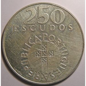 Photo numismatique Monnaies Etrangères Portugal 250 Escudos