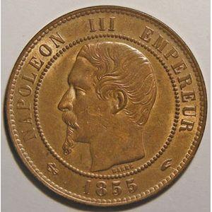Photo numismatique Monnaies Françaises 10 Centimes Gadoury 248. Napoléon III, tête nue