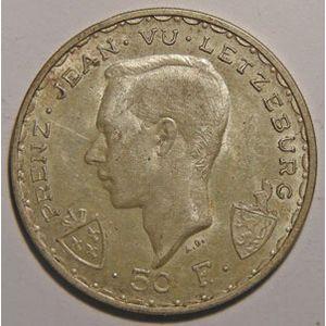 Photo numismatique Monnaies Etrangères Luxembourg 50 Francs