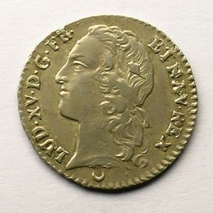 Photo numismatique Monnaies Royales Fran�aises LOUIS XV (1715-1774) 1/10 �me d'�cu au bandeau