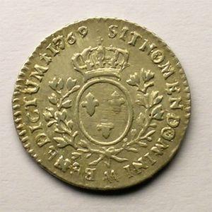 Photo numismatique Monnaies Royales Françaises LOUIS XV (1715-1774) 1/10 ème d'écu au bandeau