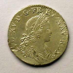 Photo numismatique Monnaies Royales Françaises LOUIS XV (1715-1774) 1/6 ème d'écu de France-Navarre