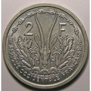 Photo numismatique Monnaies Etrang�res Afrique Occidentale Fran�aise 2 Francs