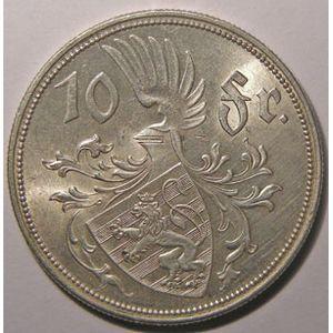 Photo numismatique Monnaies Etrangères Luxembourg 10 Francs