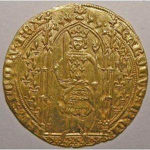 Photo numismatique Monnaies Royales Françaises CHARLES V (1364-1380) Franc à Pied