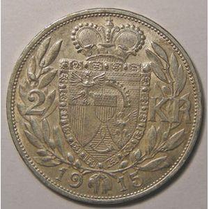 Photo numismatique Monnaies Etrangères Liechtenstein 2 Kronen