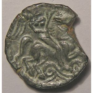 Photo numismatique Monnaies Gauloises Carnutes Bronze au Cavalier