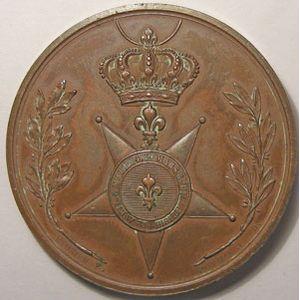 Photo numismatique Monnaies Jetons et médailles Médailles Louis XVIII Fidélité Dévouement