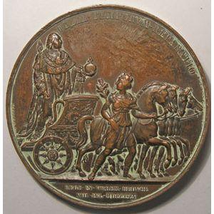 Photo numismatique Monnaies Jetons et médailles Médailles Louis XVIII 2ème entrée du Roi à Paris