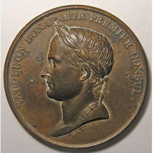 Photo numismatique Monnaies Jetons et médailles Médailles Napoléon I Paix d'Amiens