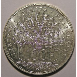 Photo numismatique Monnaies Françaises 100 Francs Gadoury 898. Panthéon