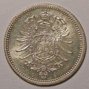 Photo numismatique Monnaies Etrang�res Allemagne Empire Allemand divisionnaire
